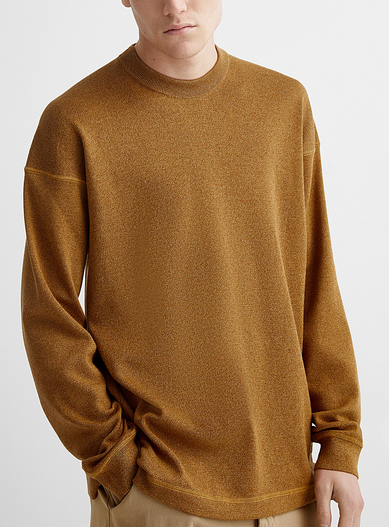Kenzo Cream Beige Tiger emblem wool and cotton sweater for men