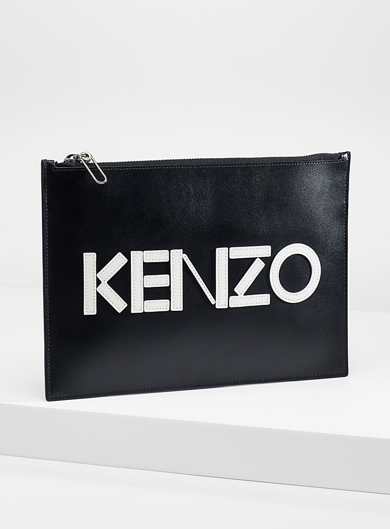 Kenzo Black Kenzo A4 clutch for men
