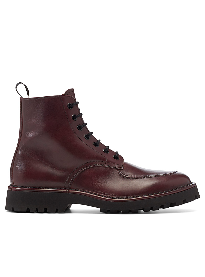 Kenzo Ruby Red K-MOUNT laced boots  Men for men