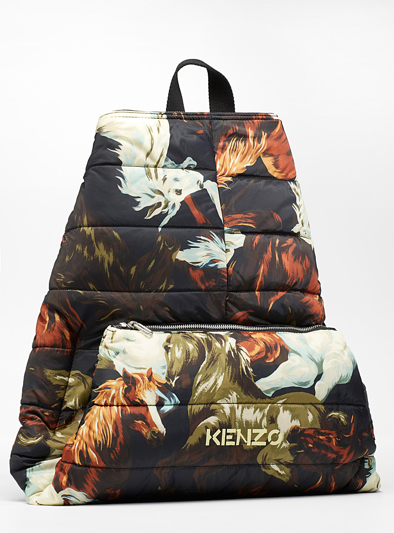 Kenzo Assorted Chevaux quilted backpack for men