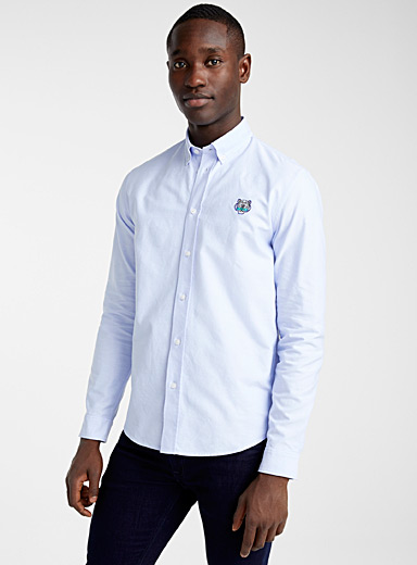 Kenzo Baby Blue Tiger Crest shirt for men