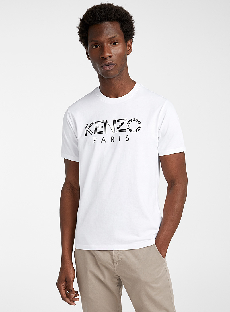 Kenzo White Kenzo Paris classic T-shirt for men
