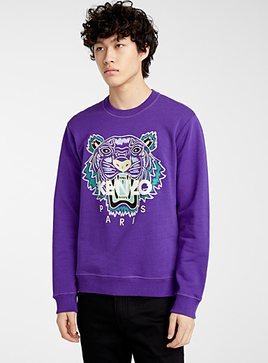 Kenzo Mauve Tiger classic sweatshirt for men