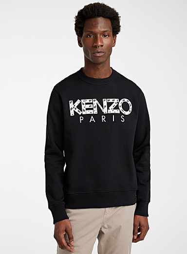 Kenzo Black Ikat sweatshirt for men