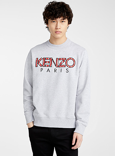 Kenzo Grey Ikat sweatshirt for men