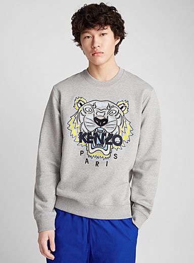 Embroidered signature tiger sweatshirt
