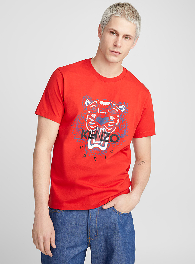 Tiger Spring 2 T-shirt - Kenzo - Ruby Red