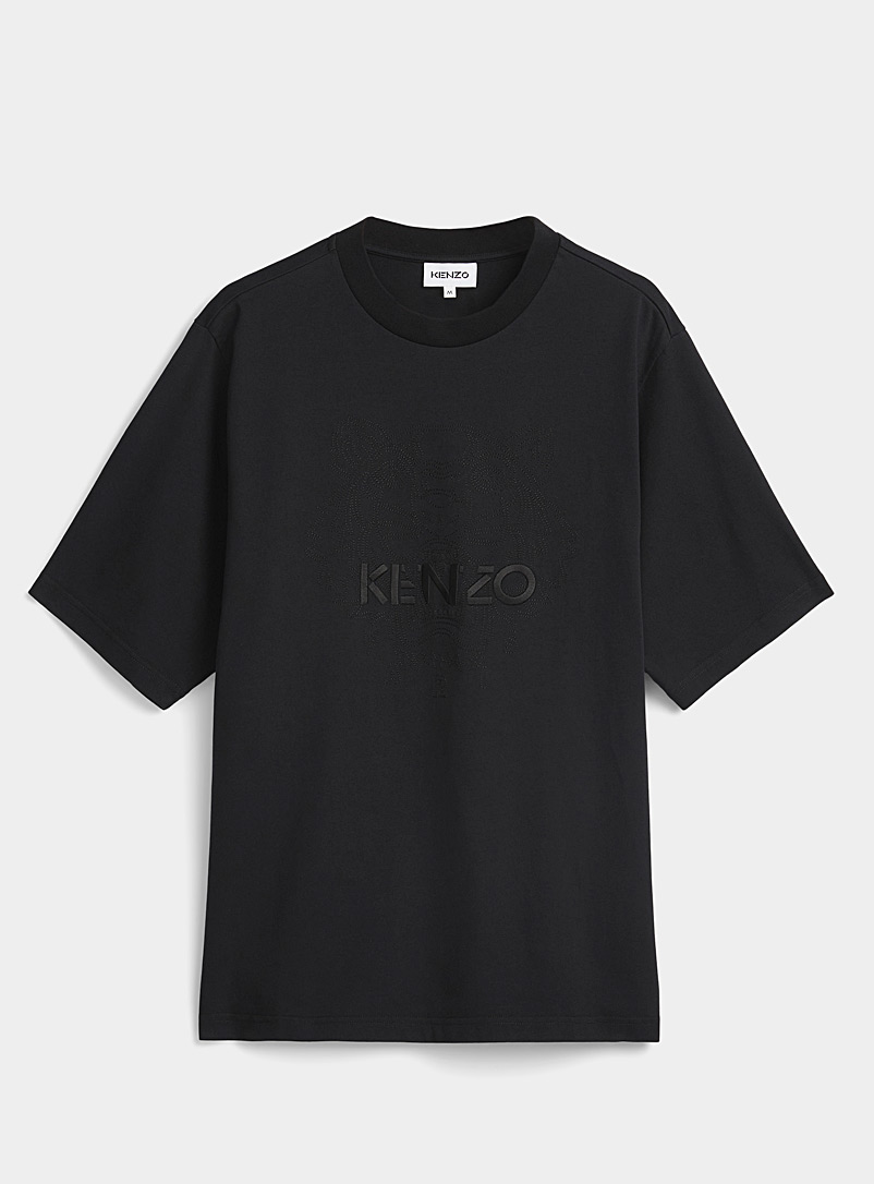 Kenzo Black Tiger tone-on-tone T-shirt for men