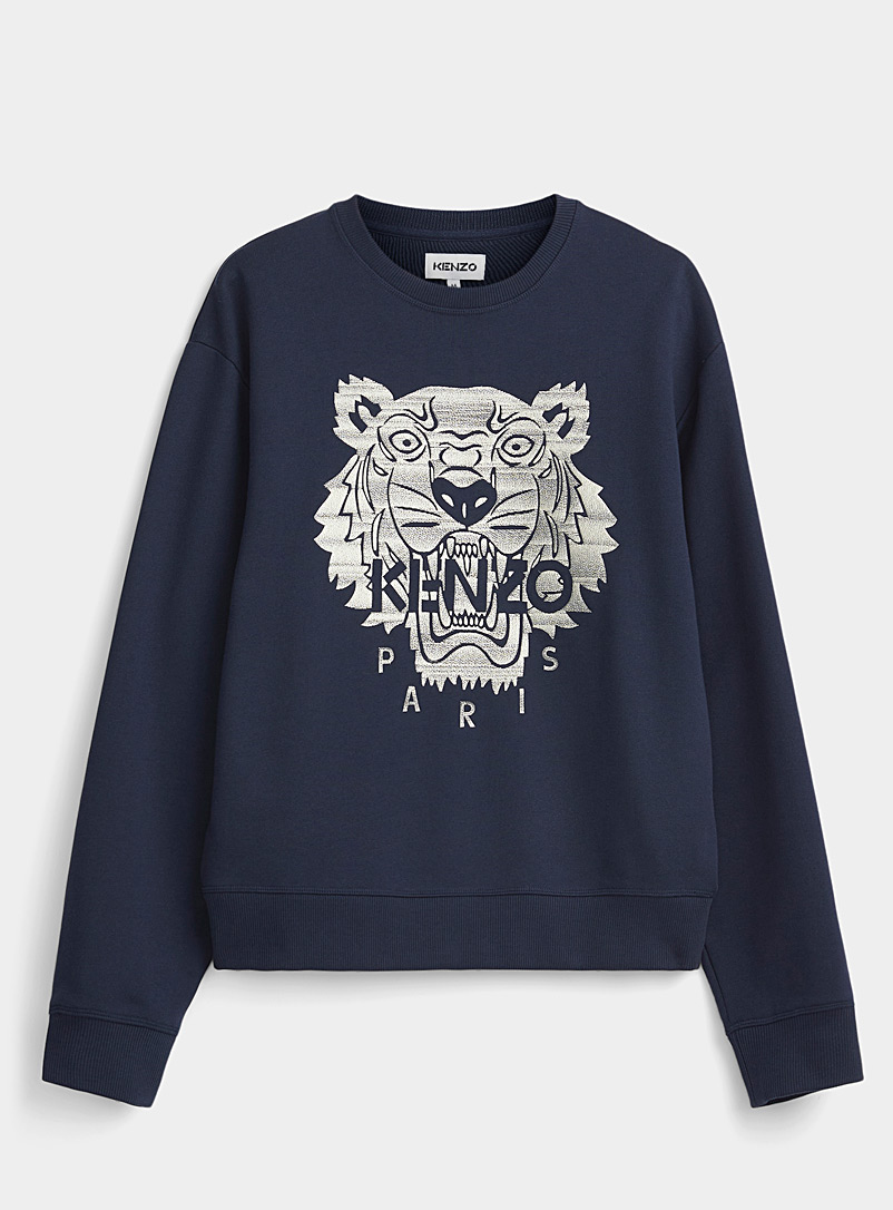 Kenzo Marine Blue Tiger navy blue sweatshirt for men