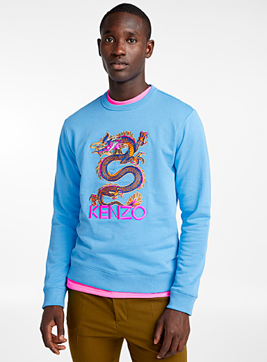 Dragon cyan sweatshirt