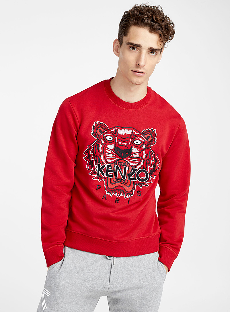 Le sweat Classic Tiger - Kenzo - Rouge