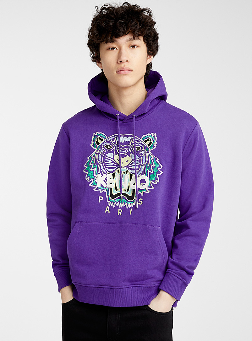 Kenzo Mauve Tiger hooded sweatshirt for men