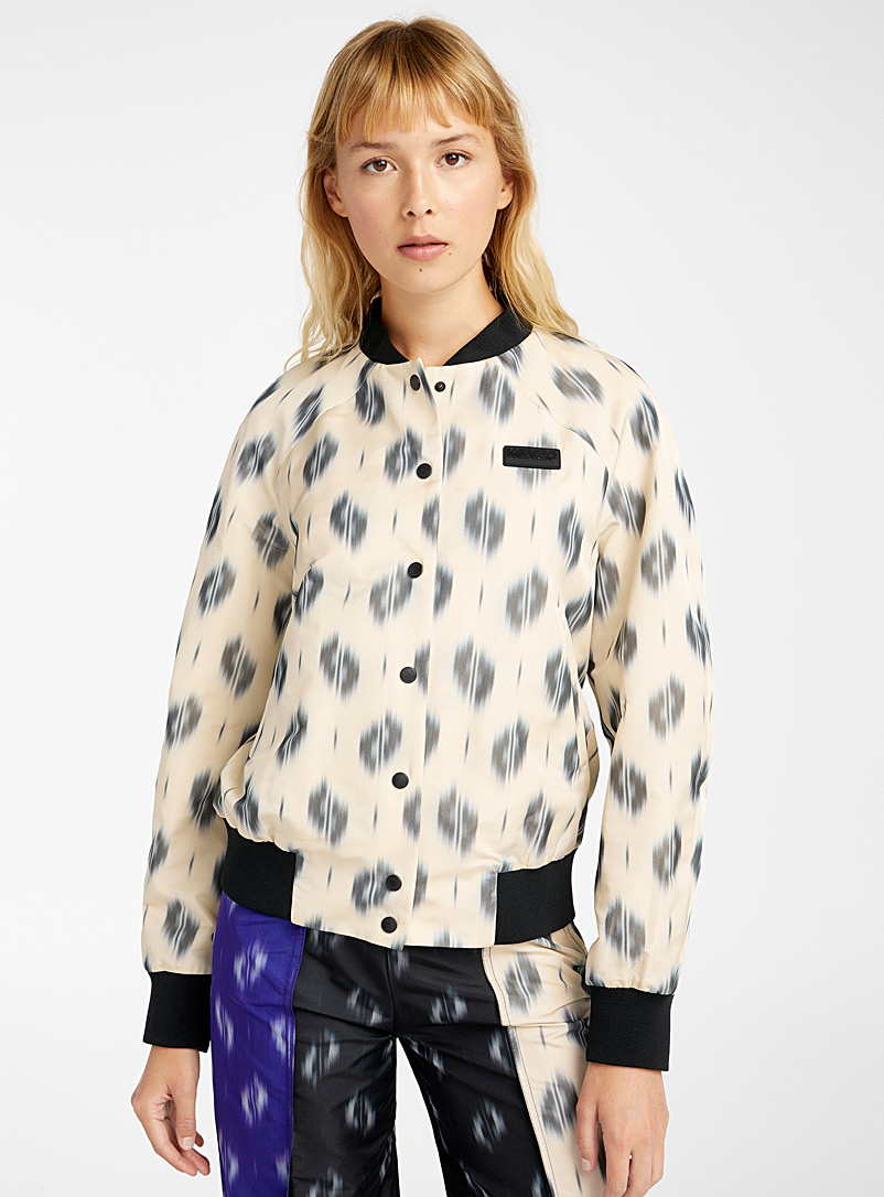 Kenzo Ivory White Ikat jacket for women