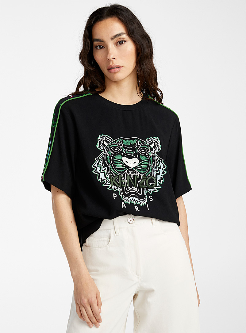 Kenzo Black Sea Lily top for women