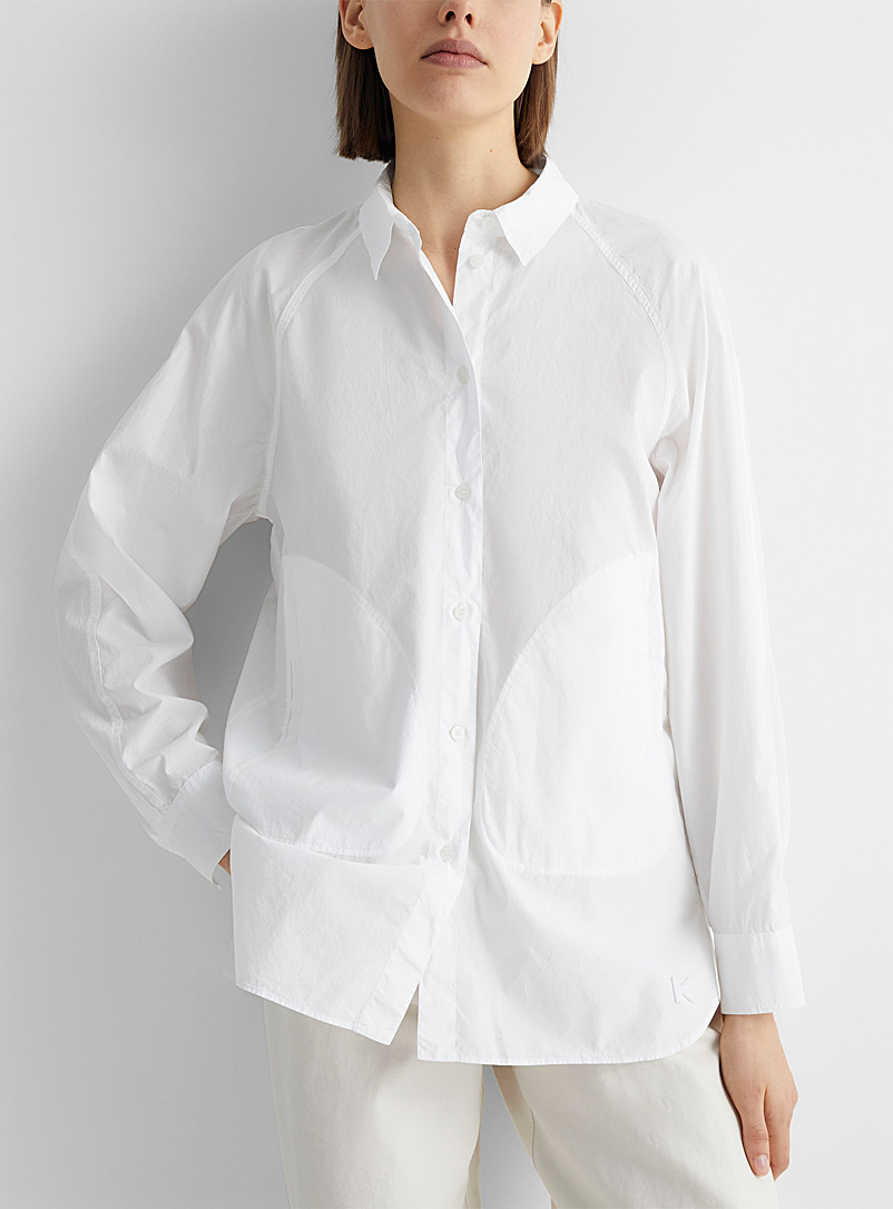 Kenzo White Raglan blouse for women
