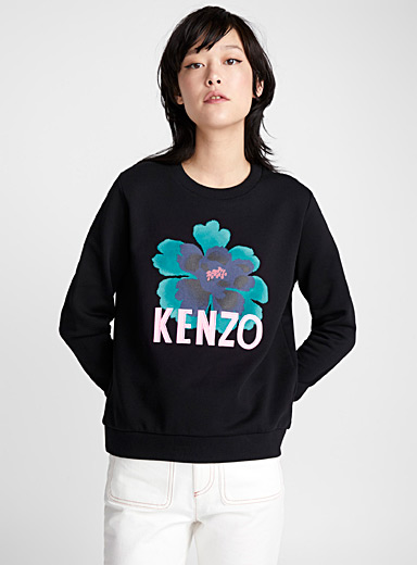 Indonesian flower sweatshirt