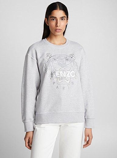 Silver tiger heather sweatshirt