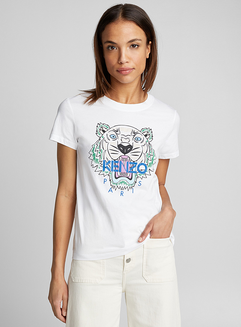 Kenzo White Classic Tiger T-shirt for women