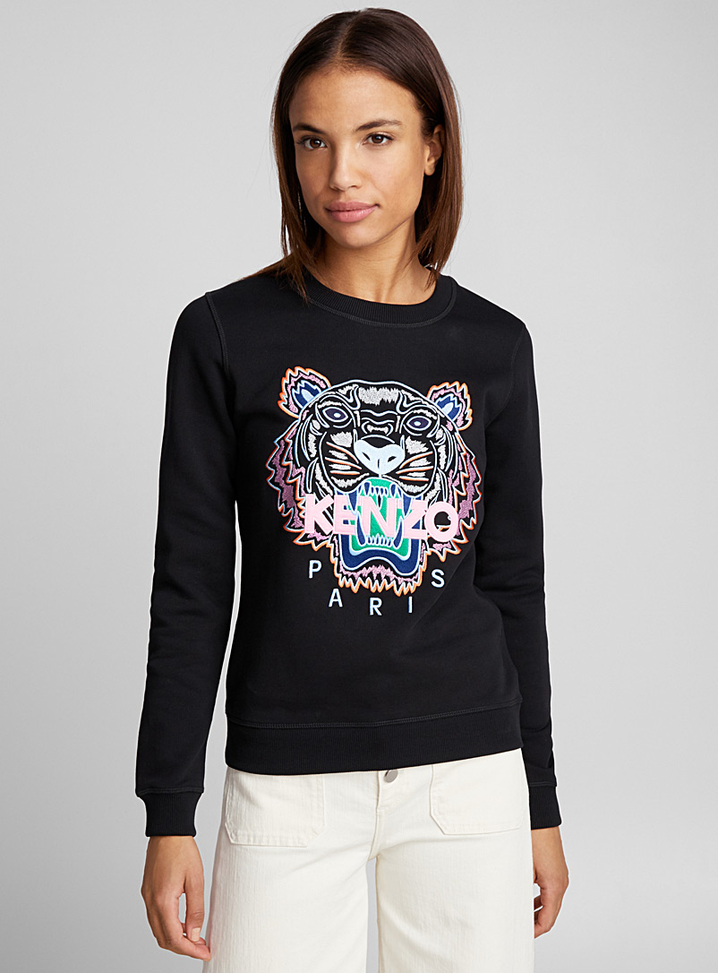 Tiger classic sweatshirt - Kenzo - Patterned Black