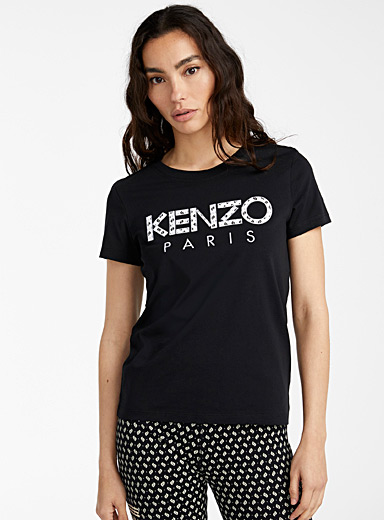 Kenzo Black Ikat tee for women