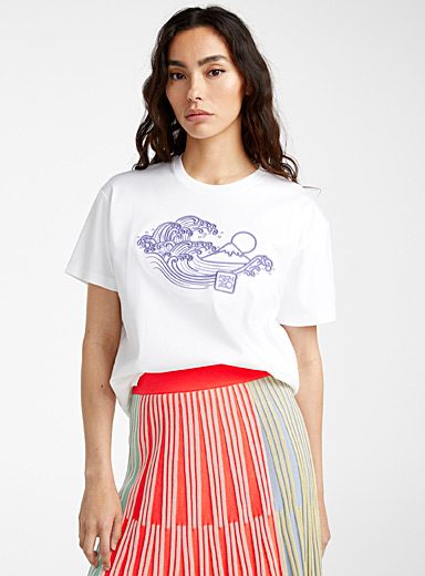 Kenzo White Wave & Mermaids tee for women