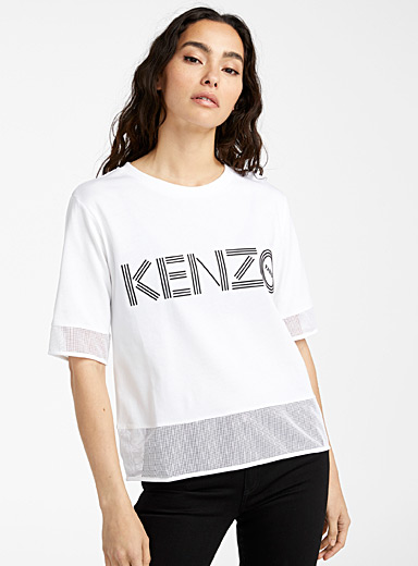 Kenzo White Mesh tee for women