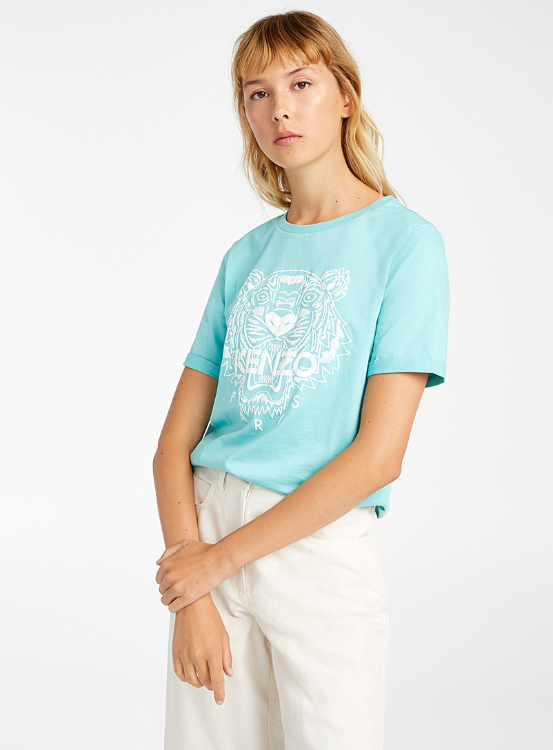 Kenzo Teal Iconic T-shirt for women