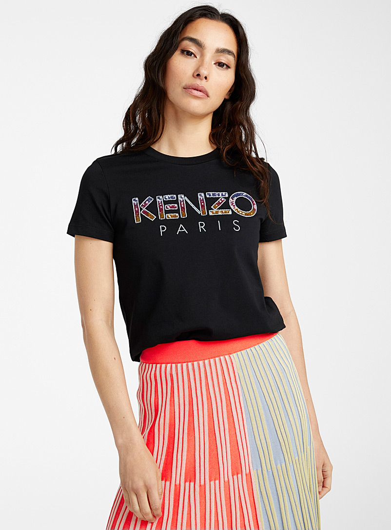 Kenzo Black Sequins tee for women