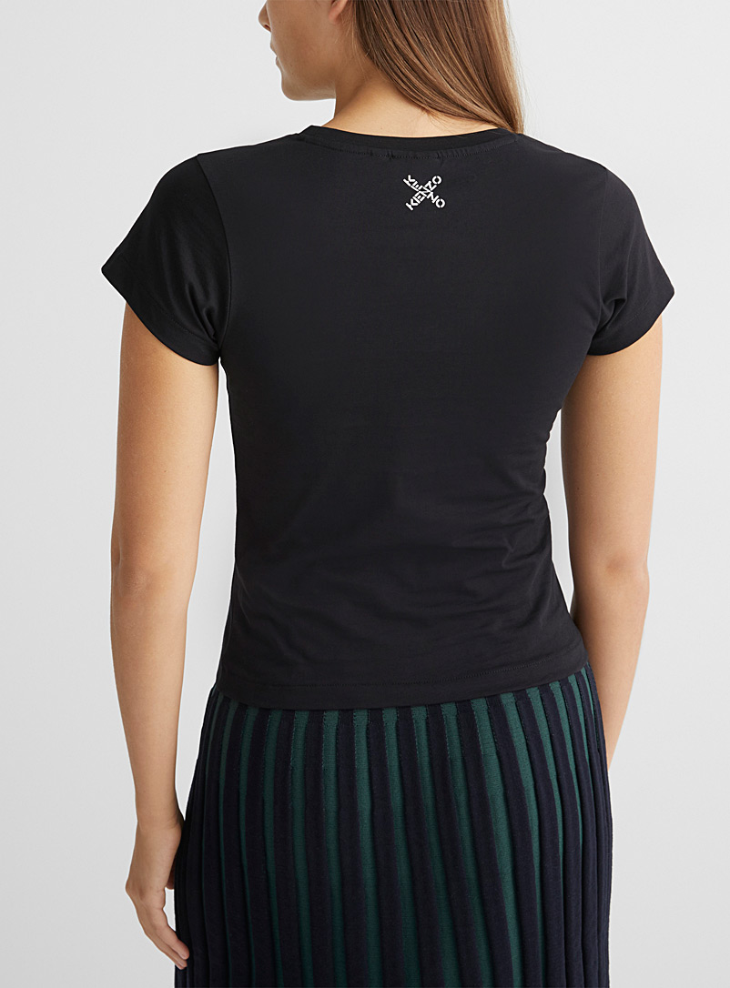 Kenzo White Big X signature fitted T-shirt for women