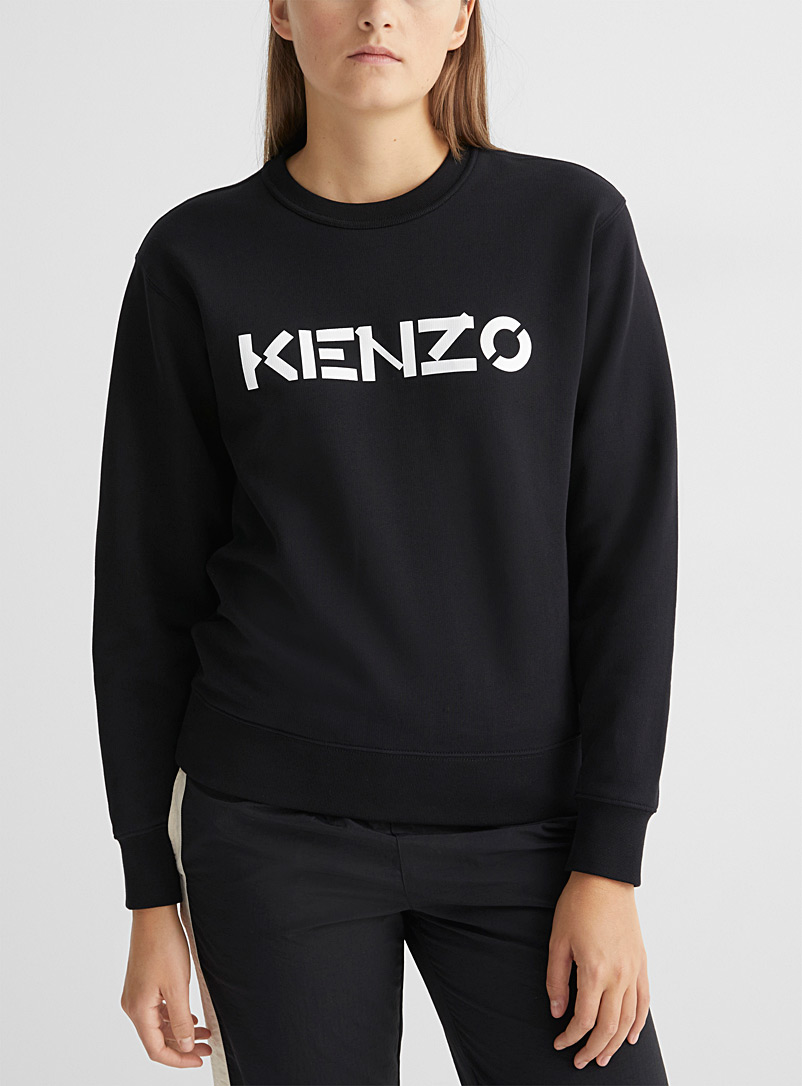 Kenzo Black Classic logo sweatshirt for women