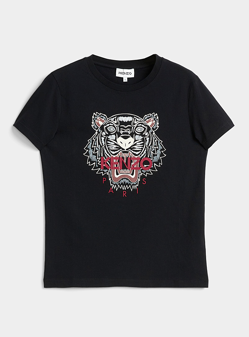 Kenzo Black Classic Tiger T-shirt for women