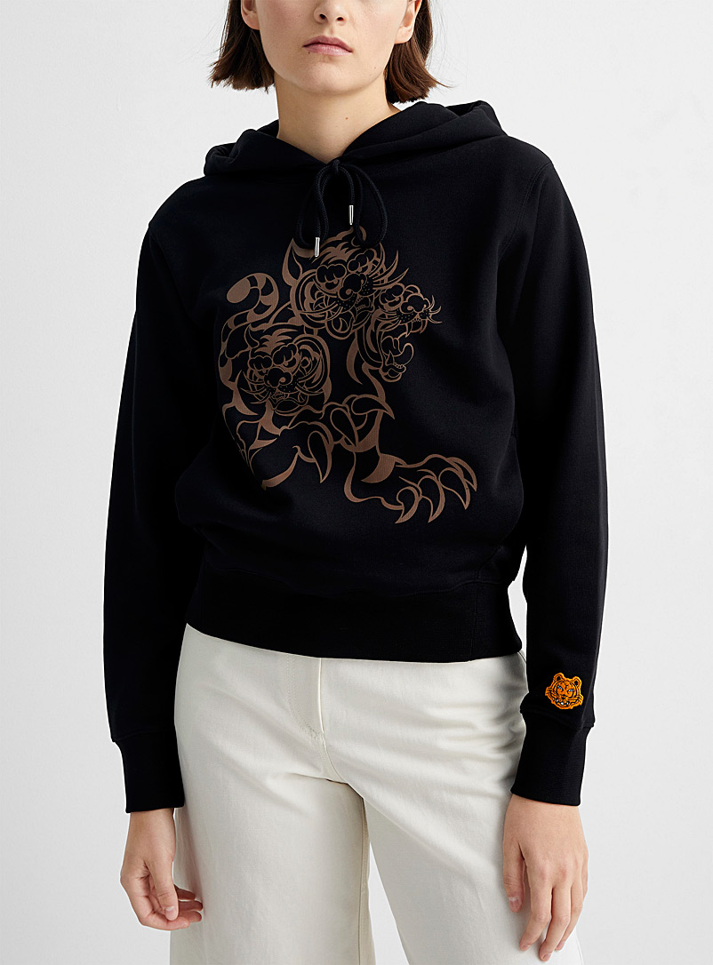 Kenzo Black Kenzo x Kansaiyamamoto three tigers sweatshirt for women