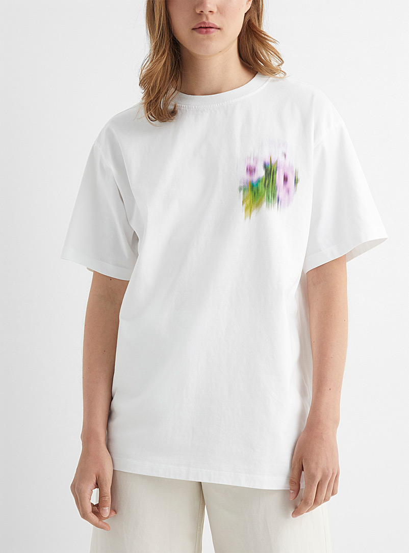 Kenzo White Abstract floral tee for women