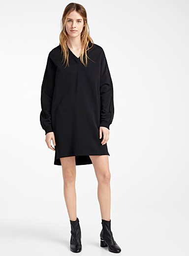 Kenzo Black Kenzo Sport sweatshirt dress for women