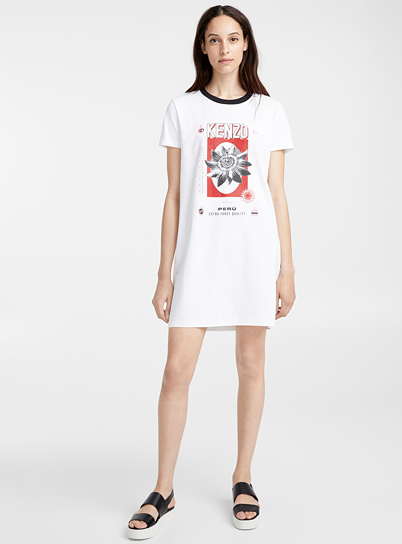 Rice Bags T-shirt dress - Kenzo - White