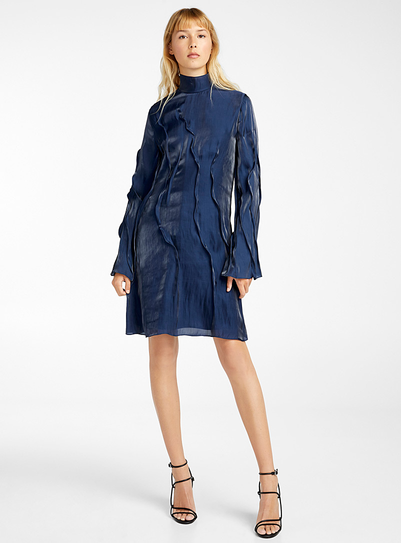 Kenzo Dark Blue Wave dress for women