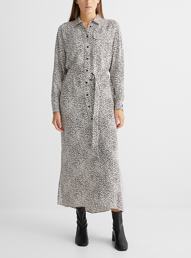 Kenzo Patterned Ecru Cheetah shirtdress for women