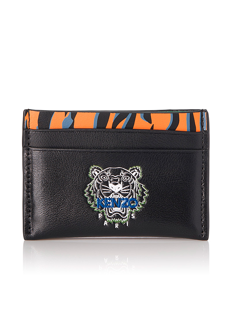 Tiny Tiger card holder - Kenzo - Black