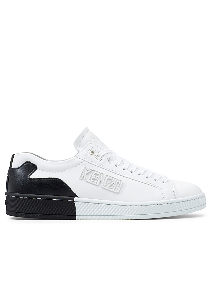 Kenzo Black Two-toned Tennix sneakers for women