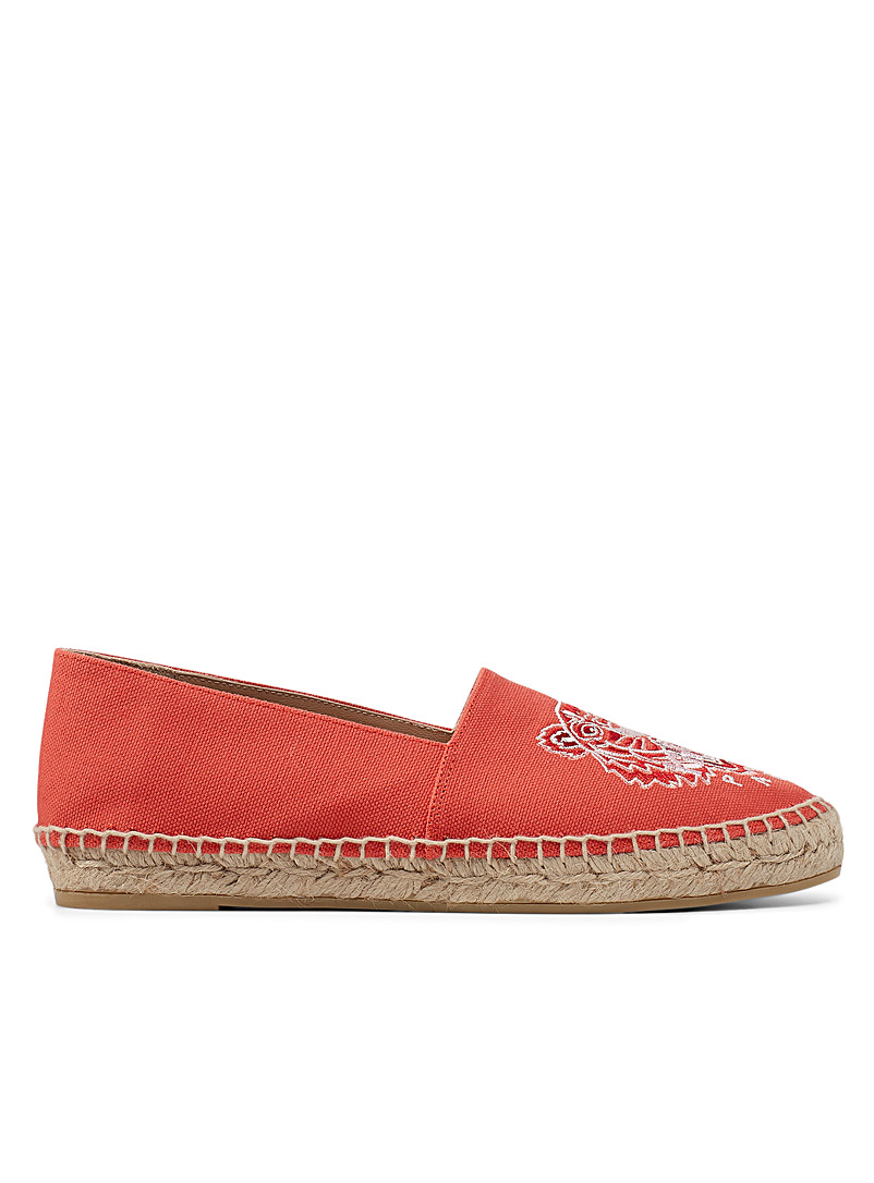 Kenzo Red Tiger canvas espadrilles for women