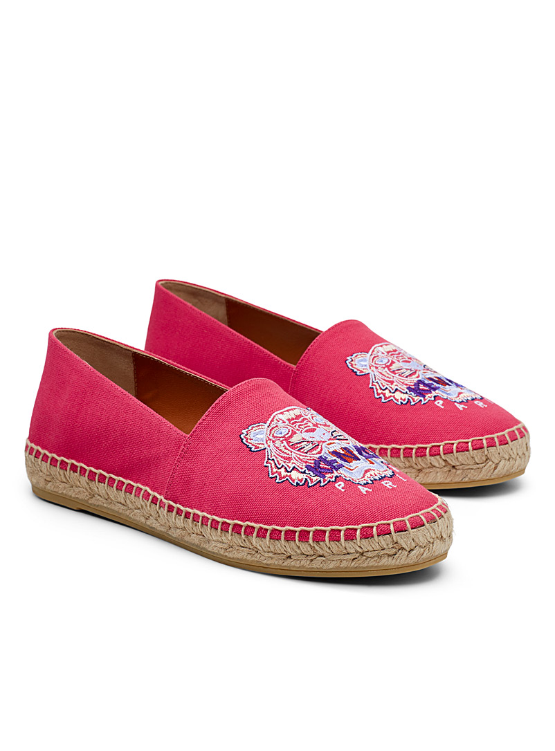 Kenzo Cherry Red Tiger classic espadrille for women