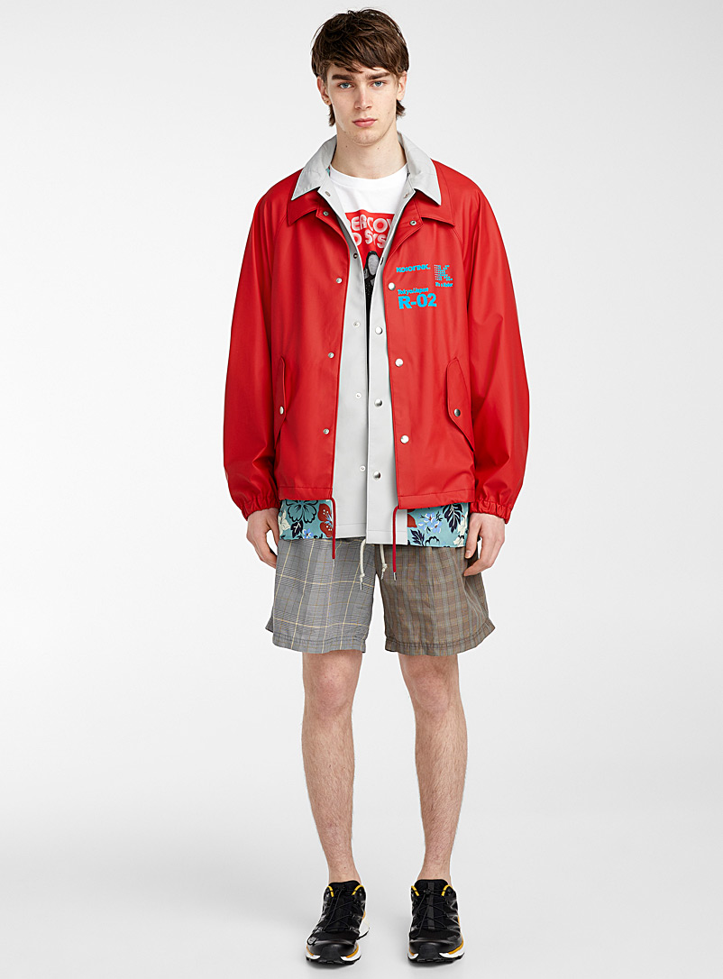 Kolor Red Logo rain jacket for men