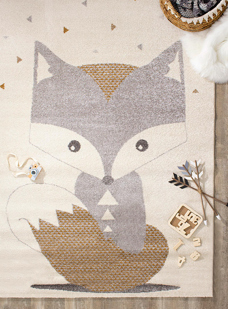 Simons Maison Cream Beige Soft fox rug