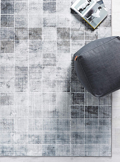 Heather checkerboard rug