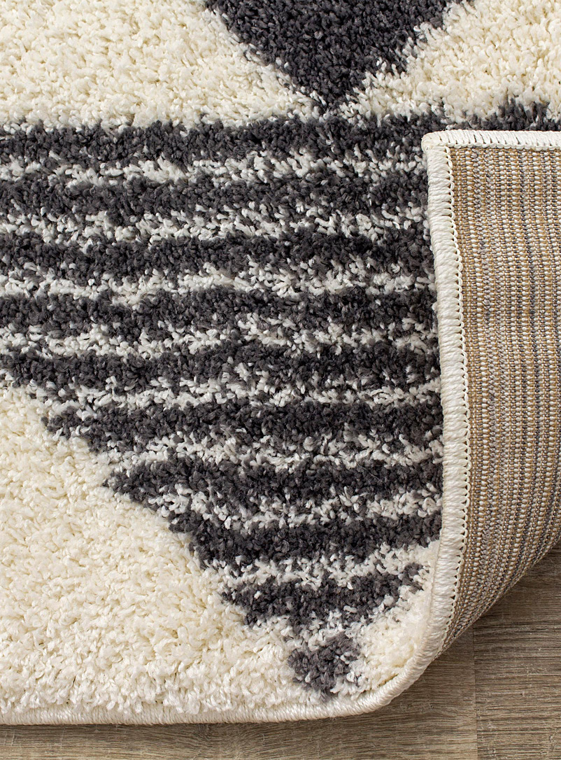 Simons Maison Patterned Grey Trajectories shag rug See available sizes