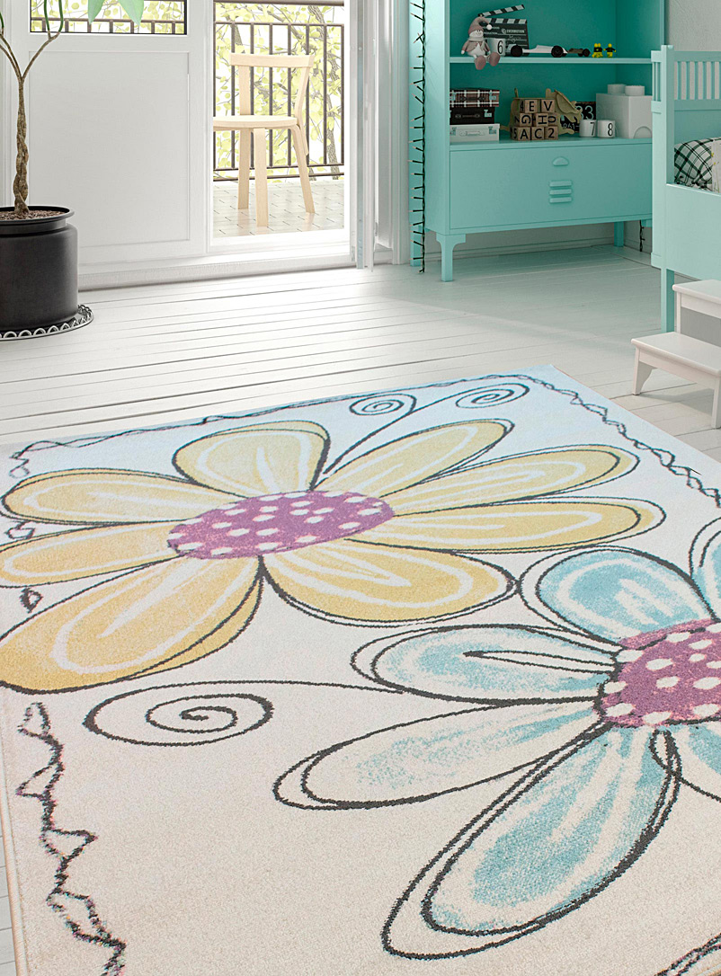 Simons Maison Assorted Floral drawing rug