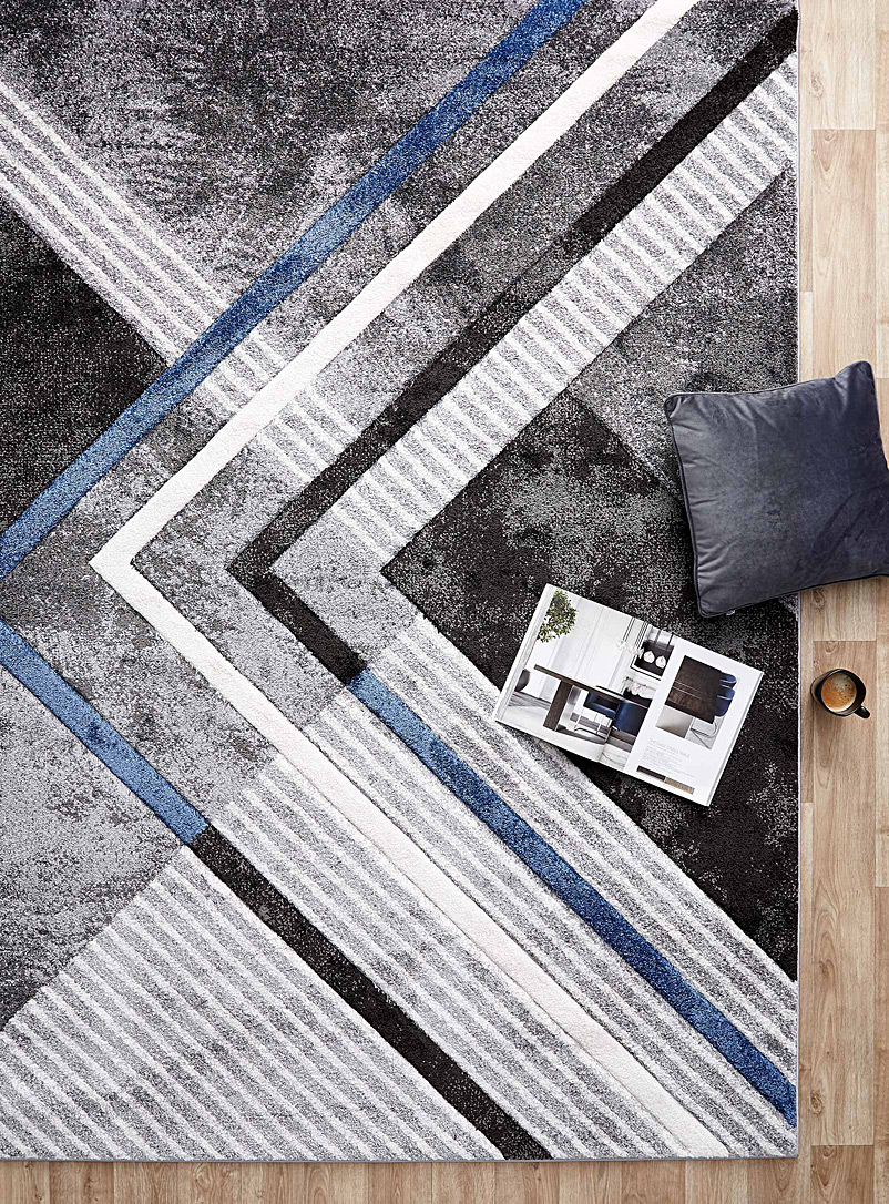 Simons Maison: Le tapis illusion d'optique Bleu