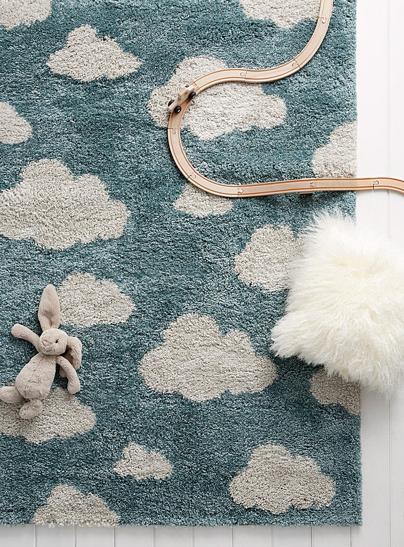 Simons Maison Blue Fluffy cloud rug