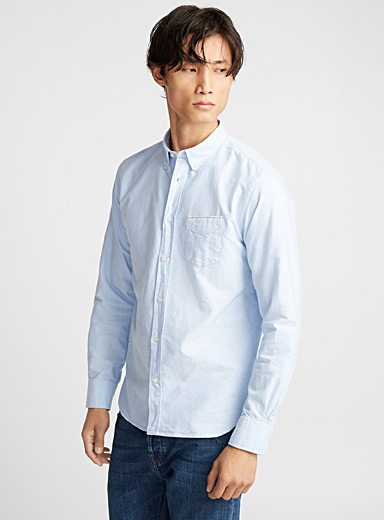 Button-collar Japanese selvedge shirt