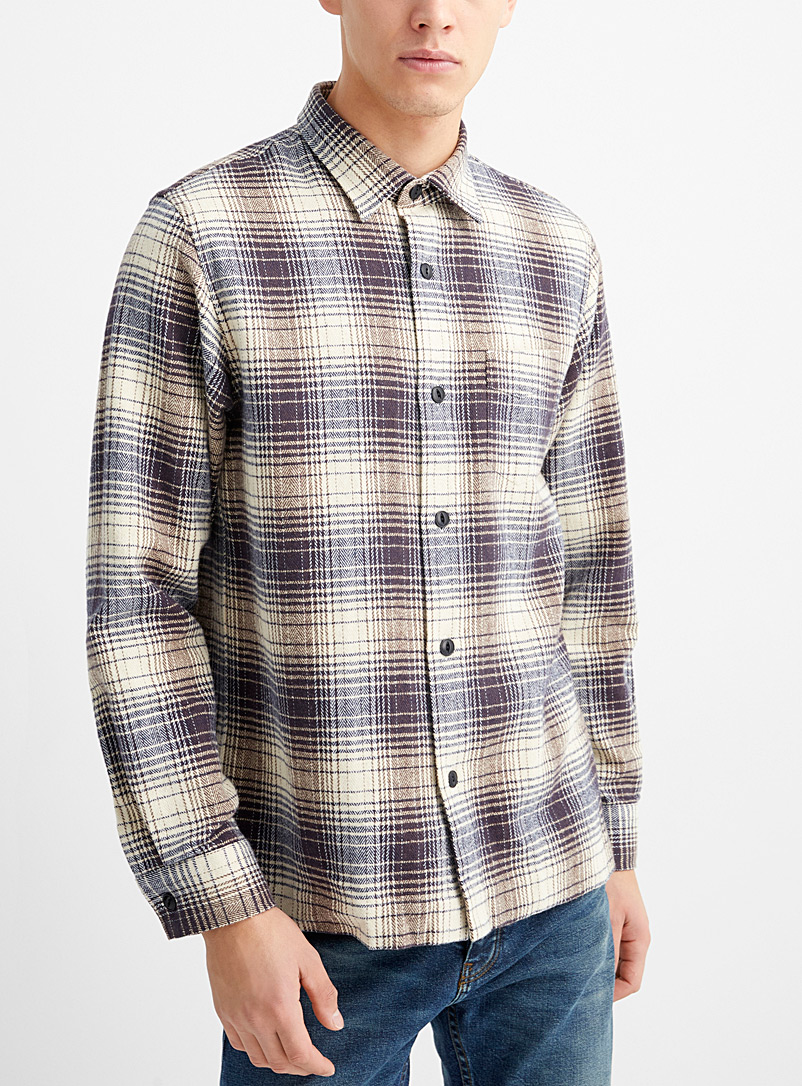 Officine Générale Patterned Blue Sol overshirt for men